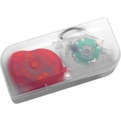 Kolesarski LED svetilki na vrvici v škatlici, multicolor-transparentna-rdeča 6289-09