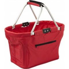 Košara za nakupovanje z ALU ogrodjem, rdeča 6304-08