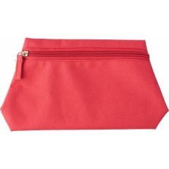 Potovalna kozmetična - toaletna torbica z zadrgo, rdeča 6392-08