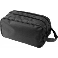 Moška potovalna - toaletna torbica z dvema žepoma z zadrgo, črna 6425-01