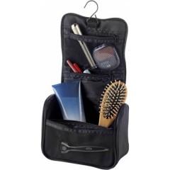 Kozmetična - toaletna torbica z obešalnikom in več žepi, črna 6427-01