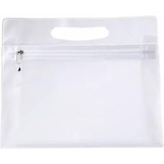 Toaletna - kozmetična torbica v transparentni barvi z zadrgo, transparentna 6447-21