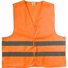 Odsevni - visokovidni varnostni brezrokavnik - telovnik, oranžna 6541-07M