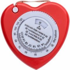BMI trak v obliki srca 150cm, rdeča 6559-08