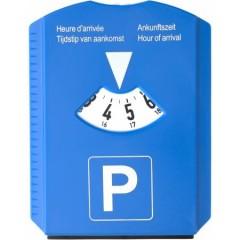 Parkirna ura s strgalom za led in žetoni za nakupovalni voziček, modra 6621-23