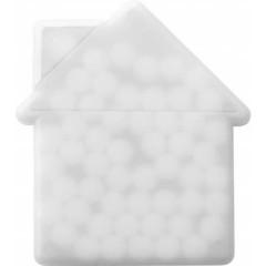 Mint bonbončki brez sladkorja v škatlici v obiliki hiše House, bela 6671-02