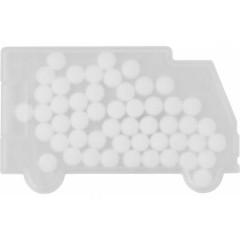 Mint bonboni brez sladkorja v škatlici v obliki tovornjaka ali kombija Van, bela 6679-02