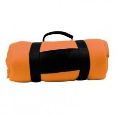 Flis odeja z ročajem za enostavno zlaganje Nashville, oranžna 690210