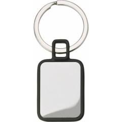Kovinski pravokotni obesek za ključe, črna-srebrna 6983-01