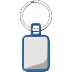Kovinski pravokotni obesek za ključe, modra-srebrna 6983-05