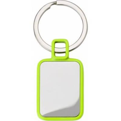 Kovinski pravokotni obesek za ključe, zelena-srebrna 6983-19