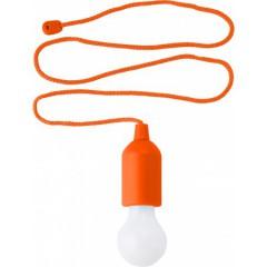 Lučka na vrvici z vklopom na poteg, oranžna-bela 6984-07