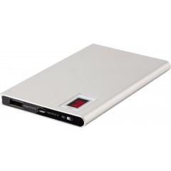Kovinska polnilna baterija 4000mAh z zaslonom, siva 7089-32