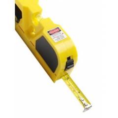 Merilni trak - meter z laserjem in libelo, rumena-črna 7166-06