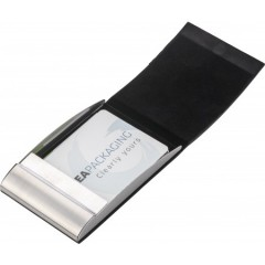 Etui za vizitke z magnetnim zapiranjem in žametno notranjostjo , črna 7227-01