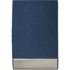 Etui za vizitke z magnetnim zapiranjem in žametno notranjostjo , modra 7227-05