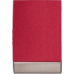Etui za vizitke z magnetnim zapiranjem in žametno notranjostjo , rdeča 7227-08