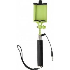 Selfie palica s sprožilcem teleskopska do 61cm, zelena-črna 7245-19