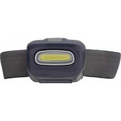 Naglavna svetilka z močno COB LED svetlobo, črna 7279-01