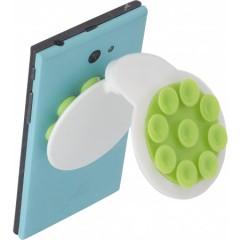 Nosilec za mobilni telefon s priseski, zelena-bela 7281-19