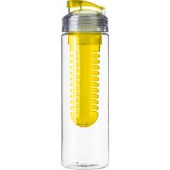 Steklenica za vodo s prostorom za sadje, rumena 7307-06