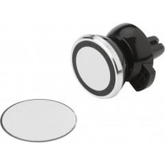 Nosilec za mobitel za režo avta - z magnetom, črna-srebrna 7311-01
