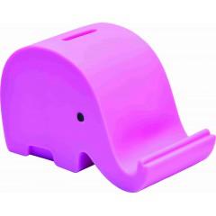 Hranilnik Slon Dumbo guma, roza 73721RO