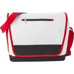 Mestna torba s pasom, bela-rdeča 7471-02