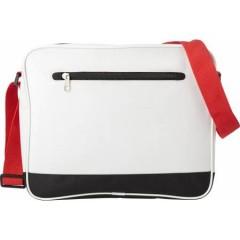 Mestna torba s pasom, bela-rdeča 7493-02