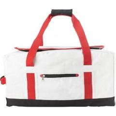 Potovalna - športna torba z nahrbtnikom, bela-rdeča 7494-02