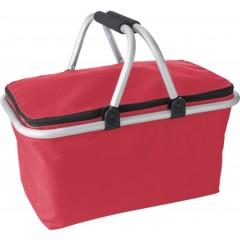 Hladilna nakupovalna košarica z ALU ročaji in pokrovom Oxford, rdeča 7510-08