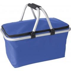 Hladilna nakupovalna košara z ALU ročaji in pokrovom Oxford, modra 7510-23