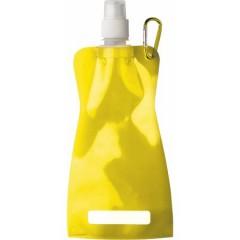 Zložljiva plastenka za vodo s karabinom 420ml, rumena 7567-06