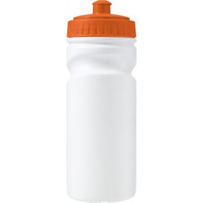 Biorazgradljiva športna steklenica za kolo - bidon EKO 500ml, oranžna-bela 7584-07