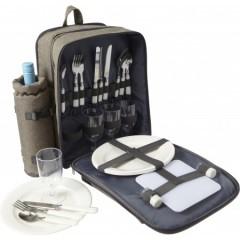 Nahrbtnik za piknik s privorom in prostorom za steklenico - za 4 osebe, siva 7613-27