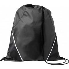 Nahrbtnik - športna vreča z vrvico, črna 7643-01