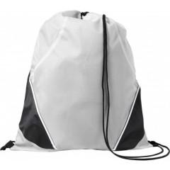 Nahrbtnik - športna vreča z vrvico, bela-črna 7643-02