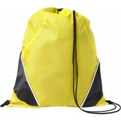 Nahrbtnik - športna vrečka z vrvico, rumena-črna 7643-06