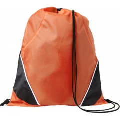 Nahrbtnik - športna vrečka z vrvico, oranžna-črna 7643-07