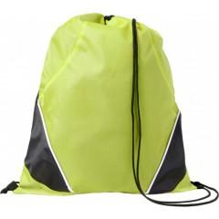 Nahrbtnik - športna vreča z vrvico, zelena-črna 7643-19
