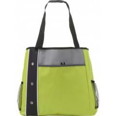 Plažna - nakupovalna torba z dolgimi ročaji in dodatnimi žepi, zelena-črna 7649-19