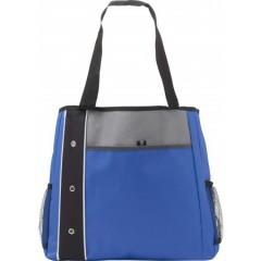 Plažna - nakupovalna torba z dolgimi ročaji in dodatnimi žepi, modra-črna 7649-23
