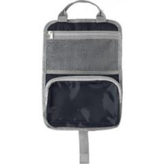 Toaletna - kozmetična torbica z dvena žepoma in ročajem, črna 7667-01