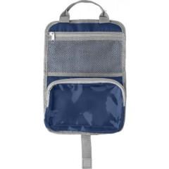 Toaletna - kozmetična torbica z dvena žepoma in ročajem, modra 7667-05