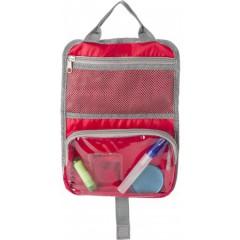 Toaletna - kozmetična torbica z dvena žepoma in ročajem, rdeča 7667-08