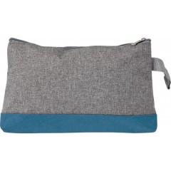 Kozmetična torbica z zadrgo Poly canvas, modra-siva 7727-23