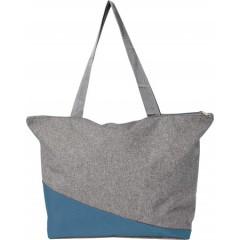 Plažna ali nakupovalna torba Poly canvas, modra-siva 7728-23