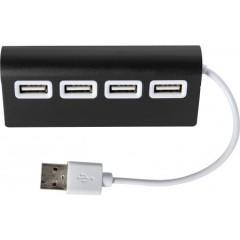 Kovinski USB hub s 4-imi USB izhodi, črna 7737-01