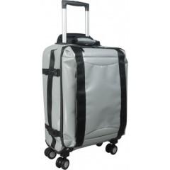 Lahka potovalna torba na štirih kolescih s teleskopskim ročajem, siva 7742-03