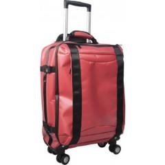 Lahka potovalna torba na štirih kolescih s teleskopskim ročajem, rdeča 7742-08